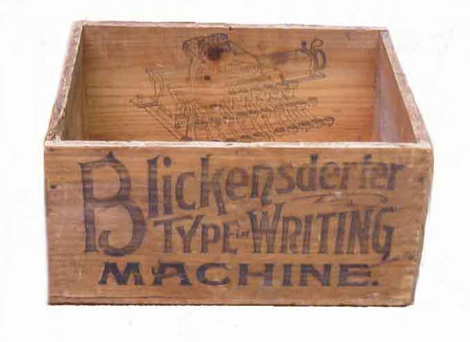 Blickensderfer Shipping Crate Front