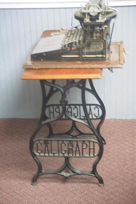 Caligraph Stand w/ Typewriter