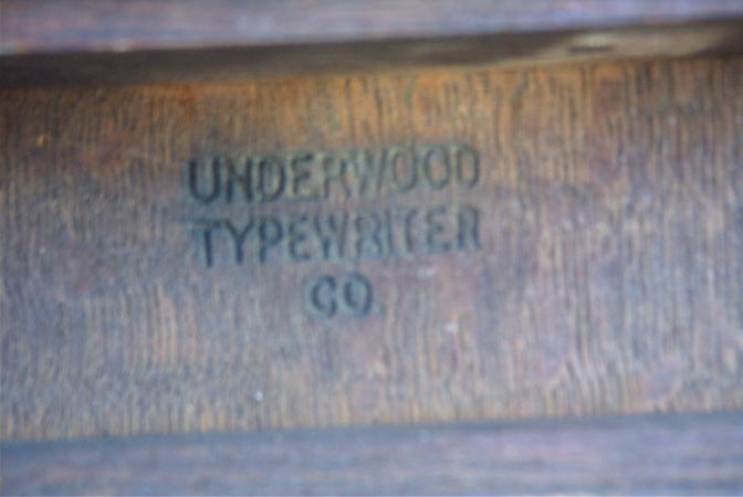 Underwood Inscription